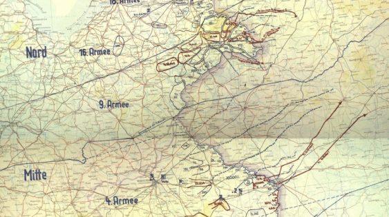 Карта «План «Барбаросса» на 22 июня 1941 г. ЦАМО. Ф. 500