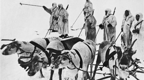 1941-1944 – Оборона Заполярья. Оленно-лыжный батальон.